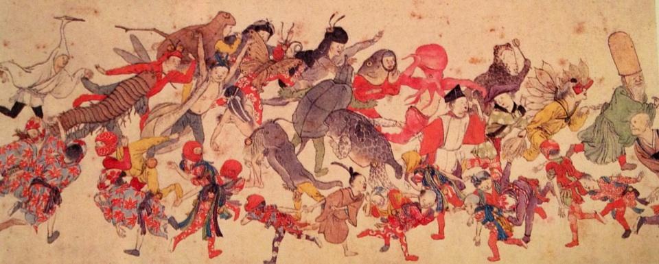 江戸時代の仮装文化を示す図版